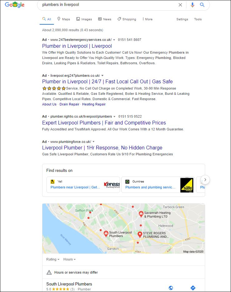 Google-Search-Results-Liverpool-Plumbers